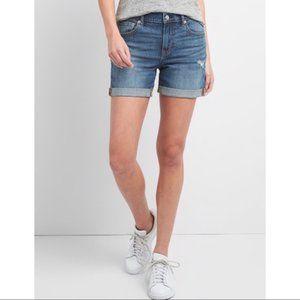 Gap 1969 Sexy Boyfriend Distressed Denim Shorts
